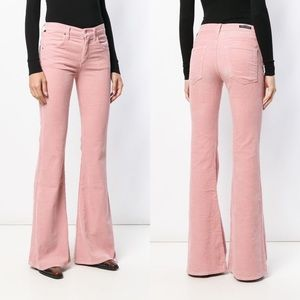 COH Corduroy Chloe High-Rise Flare Jeans Pink 27
